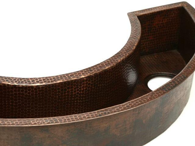 Curved Copper Prep Sink