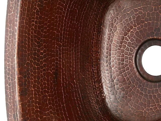 "Picture of 15"" Triangular Copper Bar Sink by SoLuna"