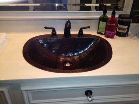"17"" Durango Copper Bathroom Sink by SoLuna"