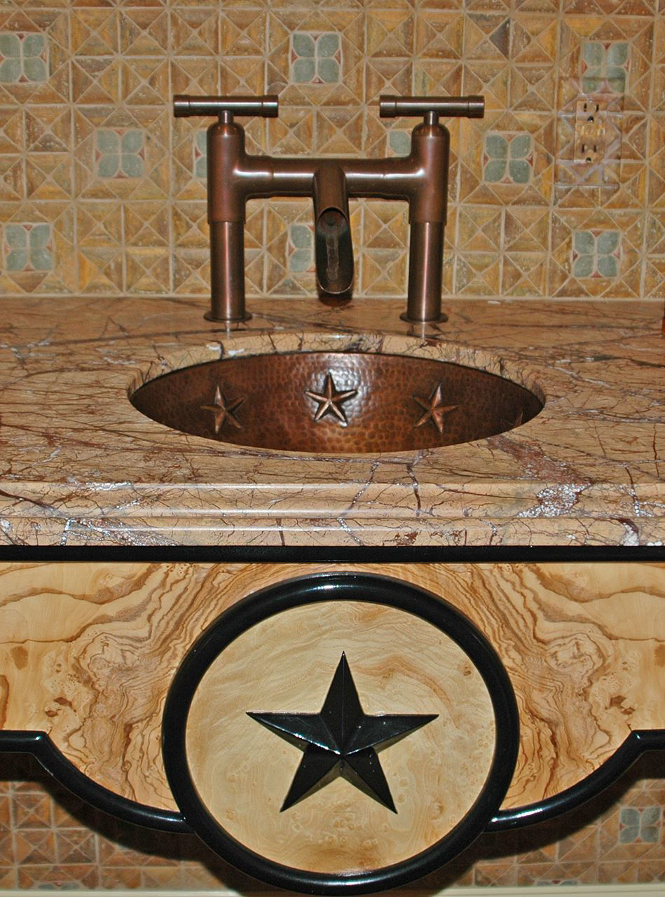 """Picture of 17"""" Round Copper Bathroom Sink - Texas Star by SoLuna"""