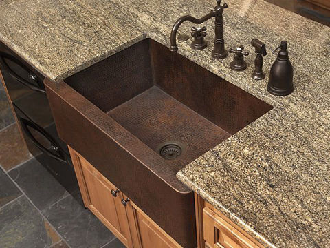 "30"" Fernanda Copper Farmhouse Sink by SoLuna"