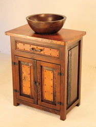 El Cerrito Wood and Copper Vanity