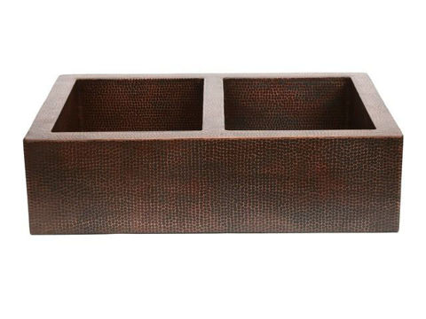 "33"" Fernanda Copper Farmhouse Sink - 50/50 by SoLuna"