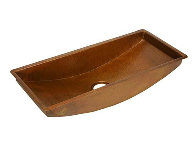 Picture of Large Trough Copper Prep Sink