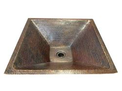 "Picture of SALE 20"" Pyramidal Tapered Copper Vessel Sink in Rio Grande"