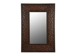 Small Rectangular Hammered Metal Mirror