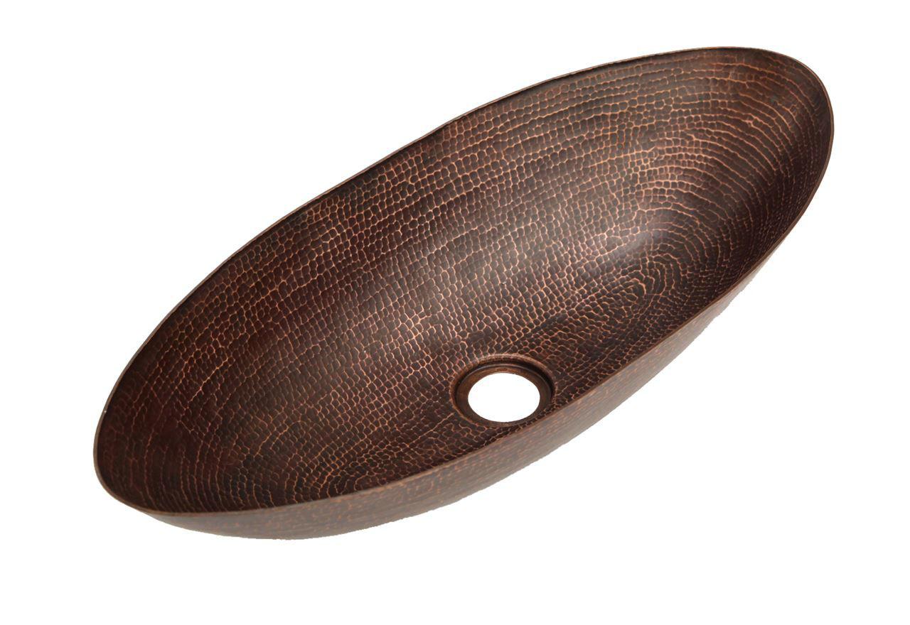"""20"""" Canoe Copper Vessel Sink by SoLuna"""