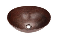 "Picture of 17"" Oval Espeso Copper Vessel Sink by SoLuna"