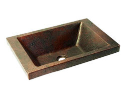 "Picture of 20"" Charola Copper Bathroom Sink by SoLuna"