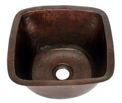 "Picture of 15"" Copper Bar Sink w/Rounded Edge by SoLuna"