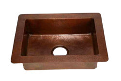 "Picture of 22"" Copper Prep Sink by SoLuna"