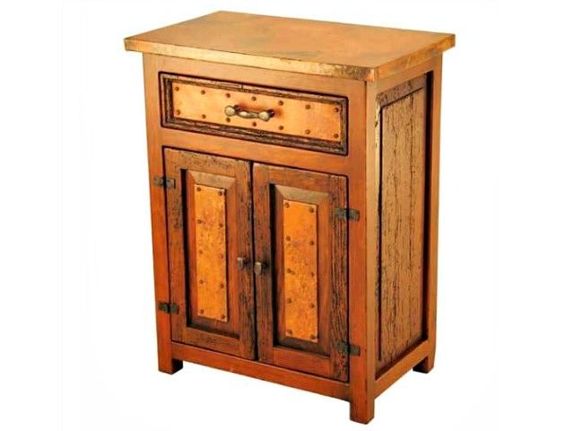 Picture of Deer Valley Nightstand with Copper Panels