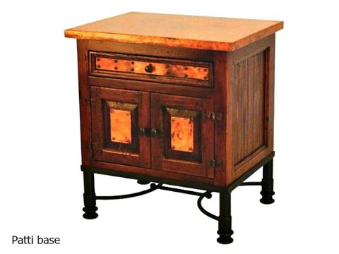 Country Nightstand with Copper Panels - 7 styles