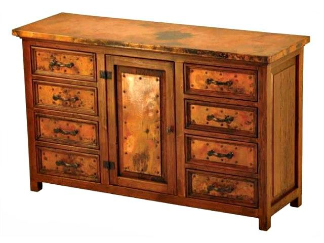 Picture of Francisco Copper and Old Wood Buffet - 1 Door and 8 Drawers