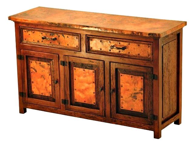 Picture of Francisco Copper and Old Wood Buffet - 3 Doors and 2 Drawers