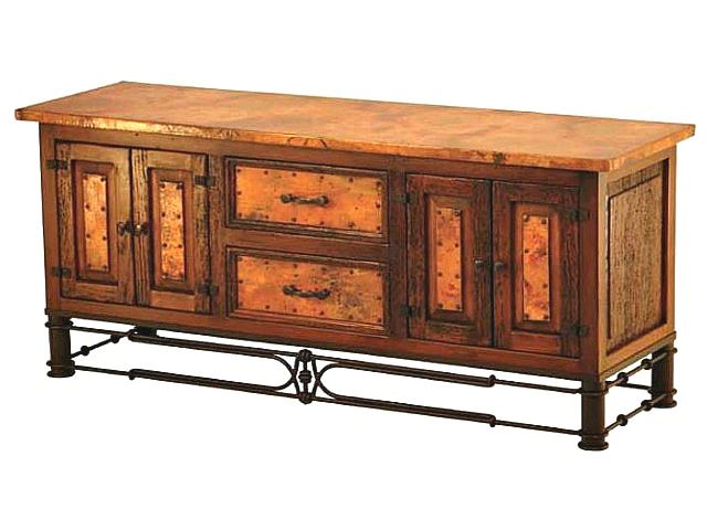 Picture of Nancy TV Stand with Copper Panels
