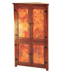 Picture of Tall Corner Cabinet with Copper Panels