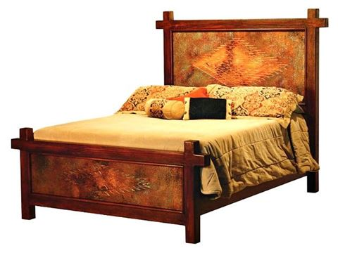 Gando Bed with Copper Panels