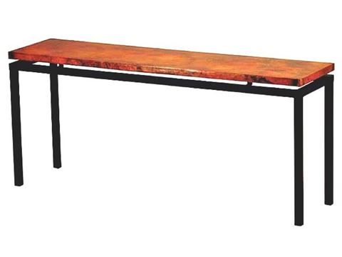 Dania Console Table with Copper Top