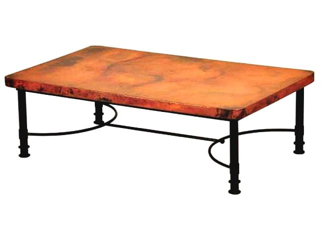 Picture of Patti Rectangular Coffee Table with Copper Top - 2 sizes