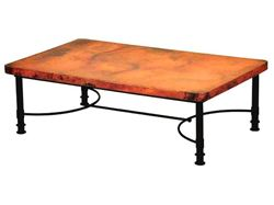 Patti Rectangular Coffee Table with Copper Top - 2 sizes