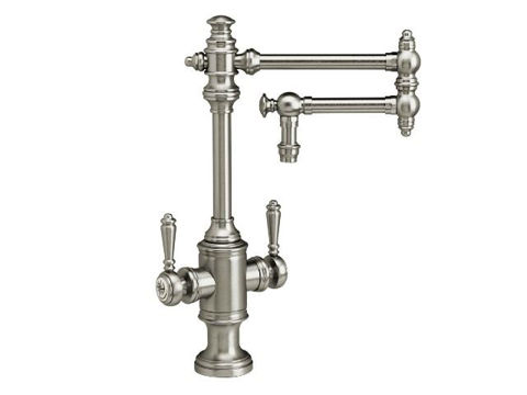 """Waterstone Towson Kitchen Faucet with Double Handles  - 12"""" Articulated Spout"""