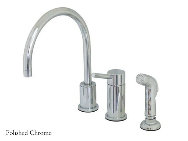 Picture of Kingston Brass Concord Gooseneck Kitchen Faucet with Spray