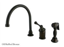 Kingston Brass Georgian Gooseneck Kitchen Faucet with Spray