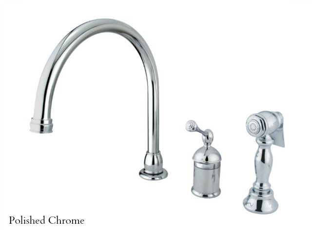 Picture of Kingston Brass Georgian Gooseneck Kitchen Faucet with Spray
