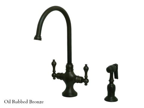 Kingston Brass Vintage Single Post Kitchen Faucet with Spray