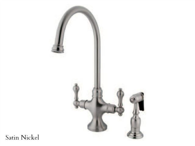 Picture of Kingston Brass Vintage Single Post Kitchen Faucet with Spray