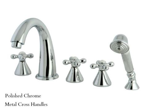 Kingston Brass Roman Tub Filler with Hand Shower