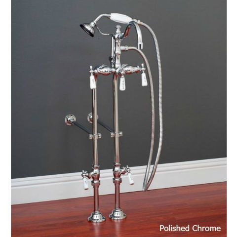 "Tub Filler | Hand Shower - 3 3/8"" Centers"