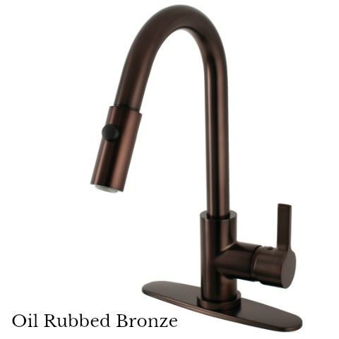 Kingston Brass Continental Single Handle Pull-Down Kitchen Faucet