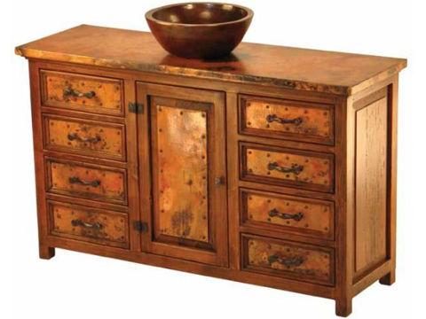 Sierra Ventura Wood and Copper Vanity