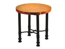 Picture of Round Patti End Table with Copper Top