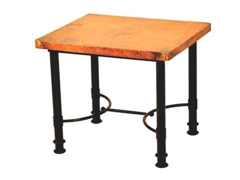 Square Patti End Table with Copper Top
