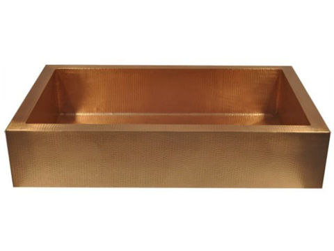"42"" Copper Farmhouse Sink by SoLuna"