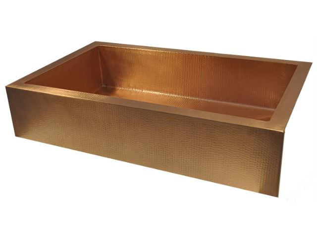 "Picture of 42"" Copper Farmhouse Sink by SoLuna"