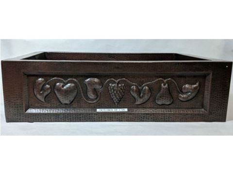 "33"" Fruit Bandolier Copper Farmhouse Sink- SALE"