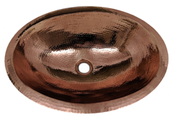 "Picture of 19"" Oval Copper Bathroom Sink by SoLuna"