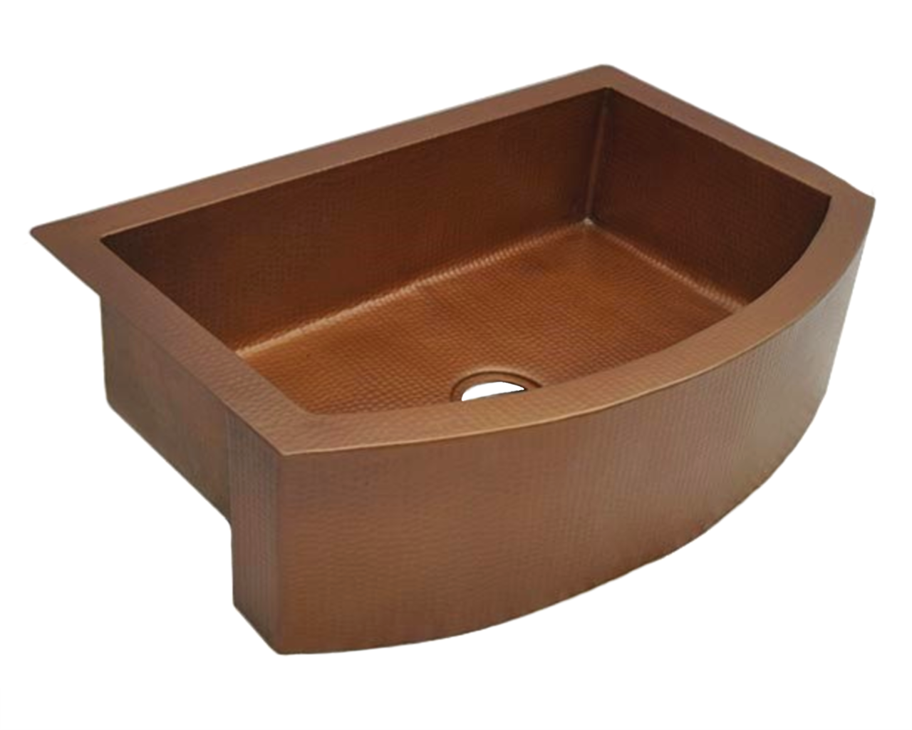 "Picture of 36"" Round Front Copper Farmhouse Sink by SoLuna"