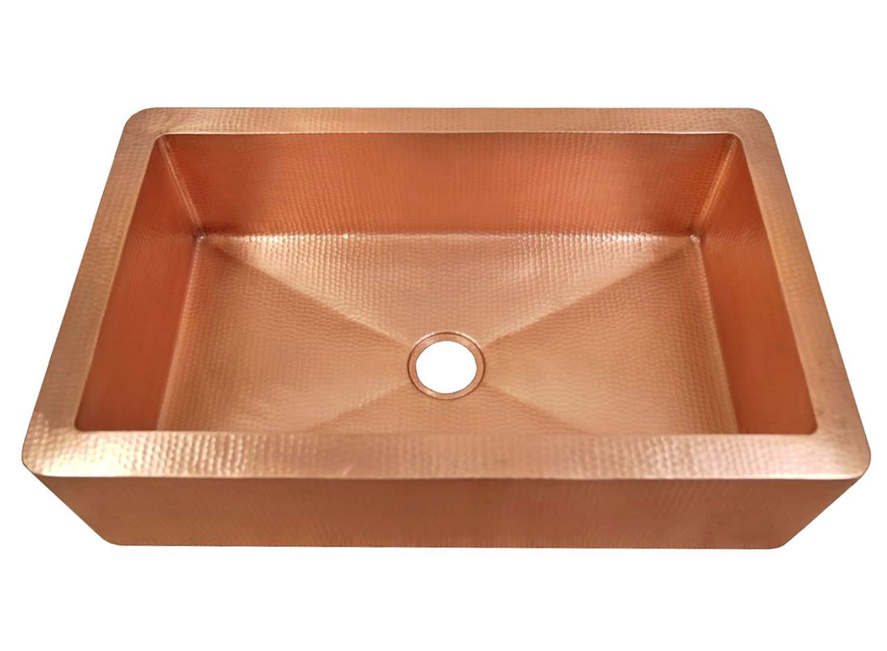 "Picture of 36"" Fernanda Copper Farmhouse Sink by SoLuna"