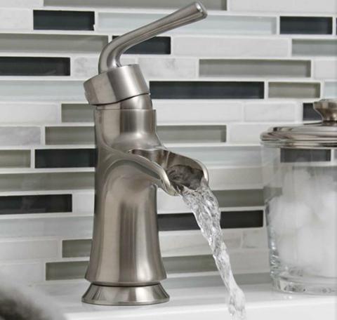 Sanibel Single Post Open Spout Bath Faucet - Brushed Nickel