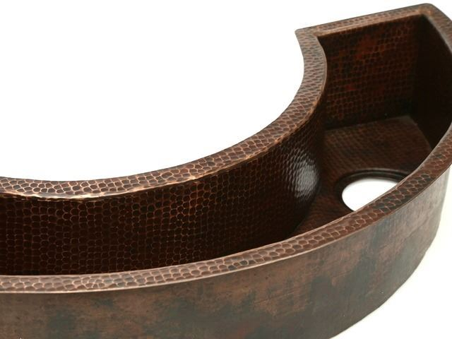 Picture of Curved Copper Prep Sink - SALE