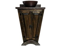 Picture of El Triángulo Wood and Copper Vanity
