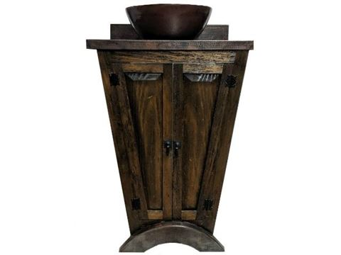 El Triángulo Wood and Copper Vanity
