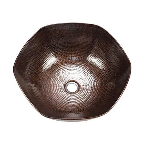 """16"""" Espeso Canto Copper Vessel Sink by SoLuna"""