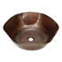 "Picture of 16"" Rippled Copper Vessel Sink by SoLuna"