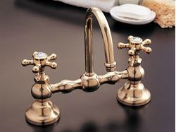 Picture of Strom Plumbing Columbia Bridge Faucet with Gooseneck Spout & Lever Handles